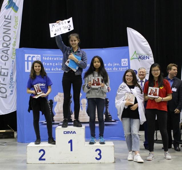 Podium Agen 2018 - Championnat de France des Jeunes 2018 - Benjamines U14F